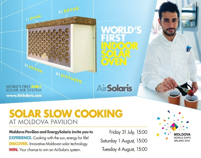 Join us for delicious Solar Slow Cooking Events at Moldova Pavilion