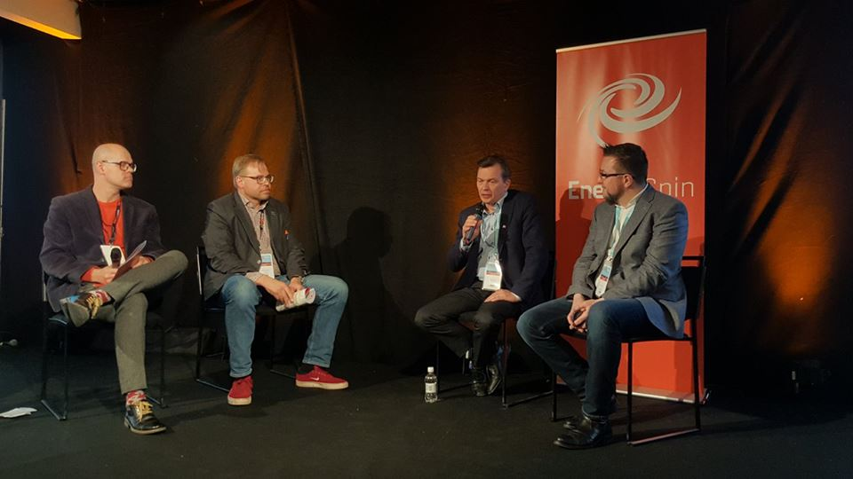 EnergySolaris in EnergySpin panel at EnergyWeek 2018 in Vaasa, Finland